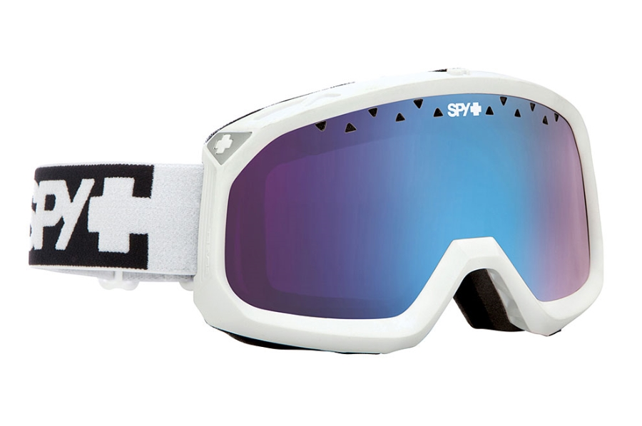 Spy TREVOR Goggles in White w/ Persimmon Contact Lens