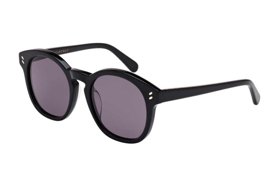 Stella McCartney SC0013SA Sunglasses in 001 Black with Grey Lens