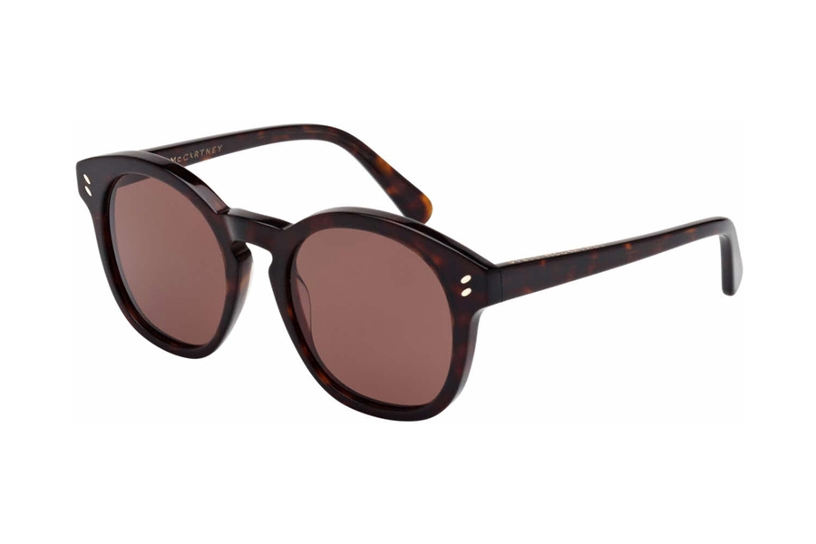 Stella McCartney SC0013SA Sunglasses in 002 Havana With Brown Lens