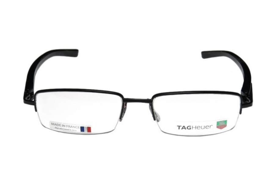 Tag Heuer 8204 Eyeglasses in 006 Black Chrome w/ Black Fiber Temples