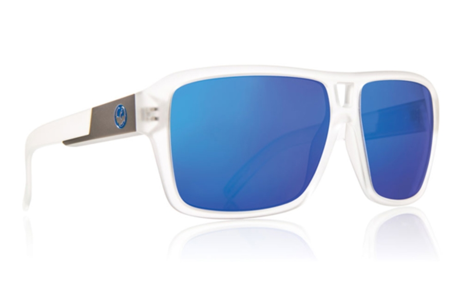 Dragon THE JAM Continued Sunglasses in MATTE CLEAR / BLUE ION
