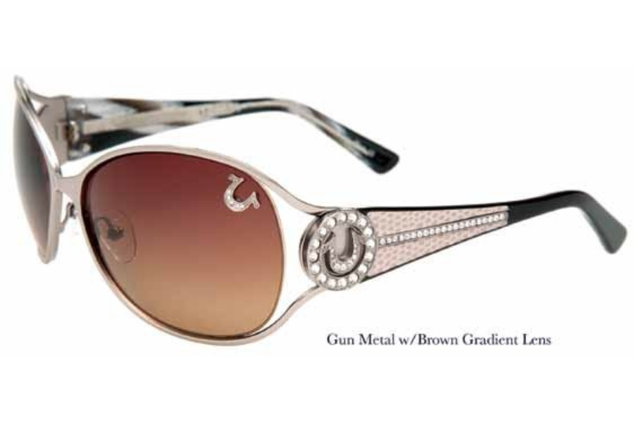 True Religion TR JACKIE Sunglasses in Gunmetal w/ Lenses - (/BROWN GRADIENT)