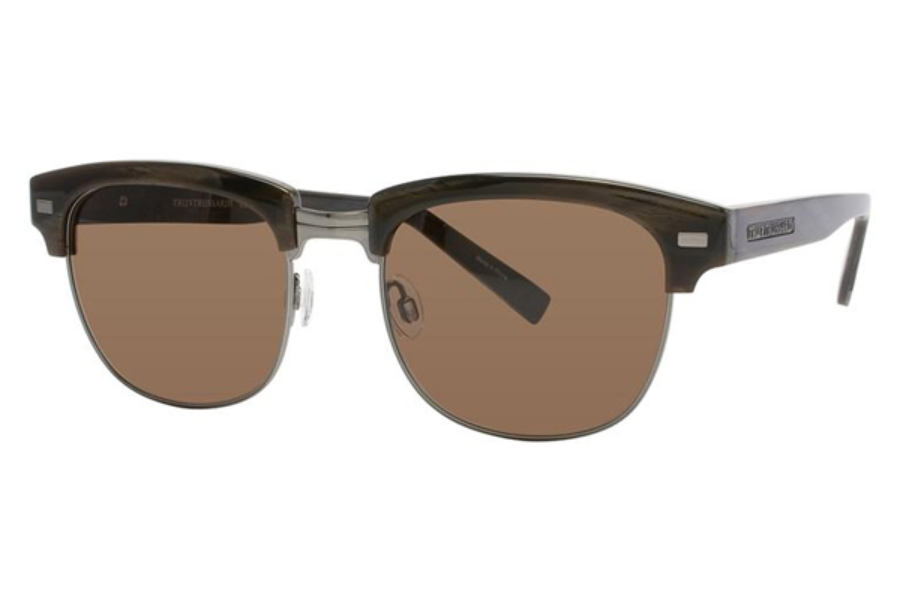 TRUSSARDI TR12815 Sunglasses in DO Dark Brown w/Brown Solid