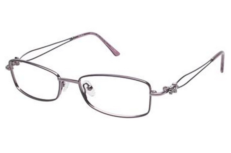 Tura R207 Eyeglasses in MAU Mauve w/ Purple Flower