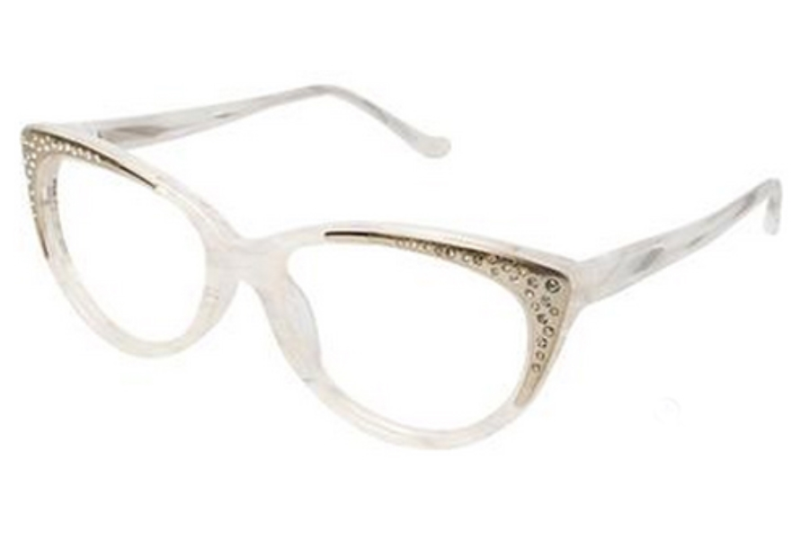Tura R608 Eyeglasses in BON Bone / Gold