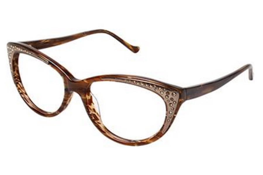 Tura R608 Eyeglasses in BRN Brown