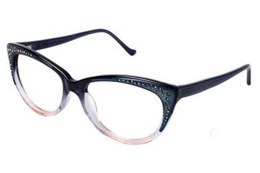 Tura R608 Eyeglasses in NAV Navy Fade