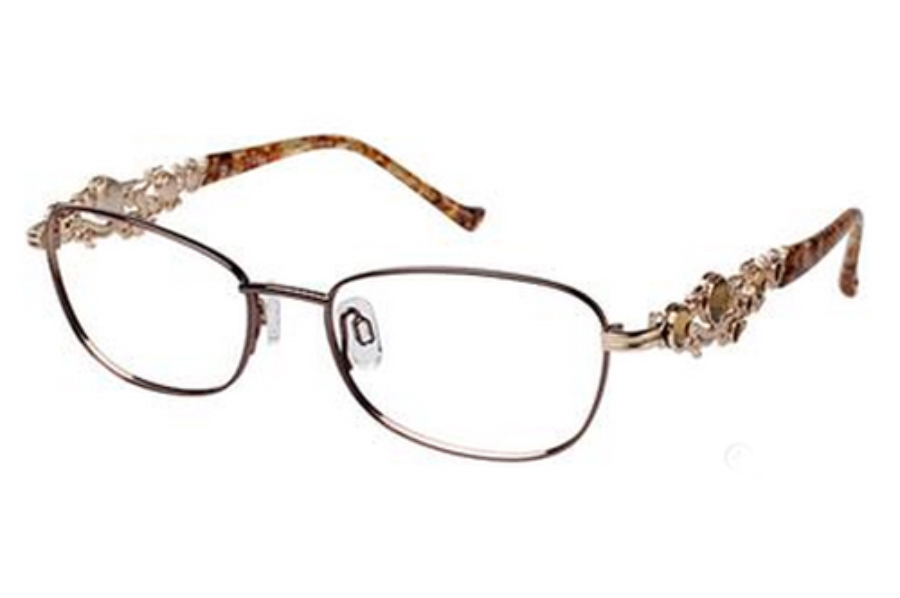 Tura R612 Eyeglasses in DBR Dark Brown / Gold