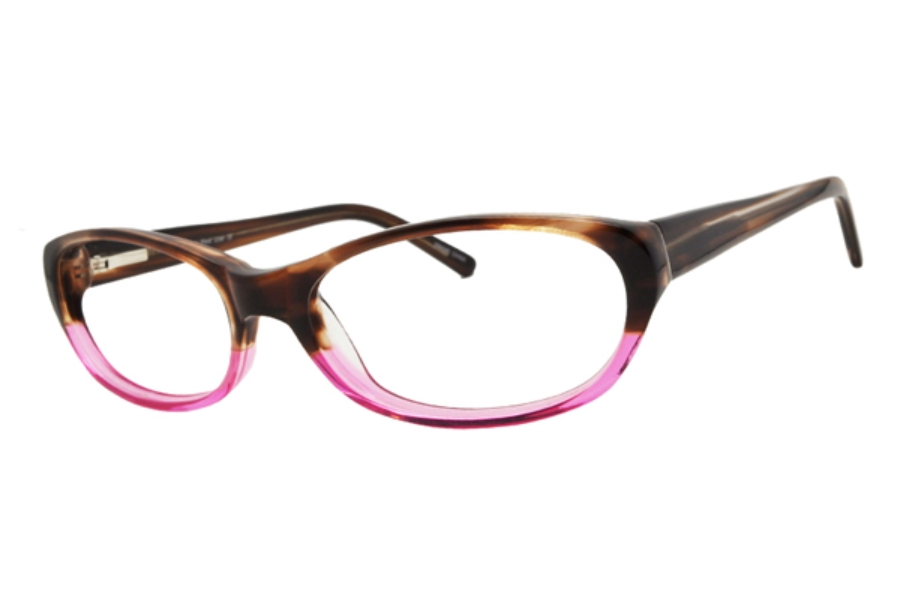 Uber Bentley Eyeglasses in Purple Tortoise / Pink