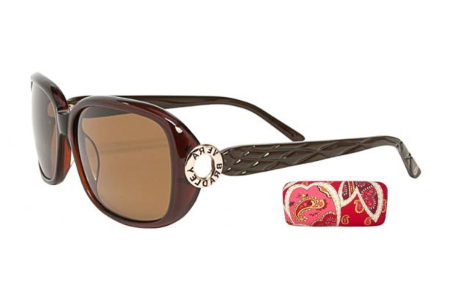 77e573bc63 ... Vera Bradley VB Miriam Sunglasses in Brown Polarized ...
