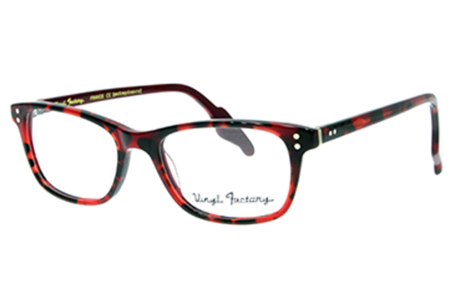 c6856ad3e22f Vinyl Factory Waters Eyeglasses in C4 Red Tortoise ...