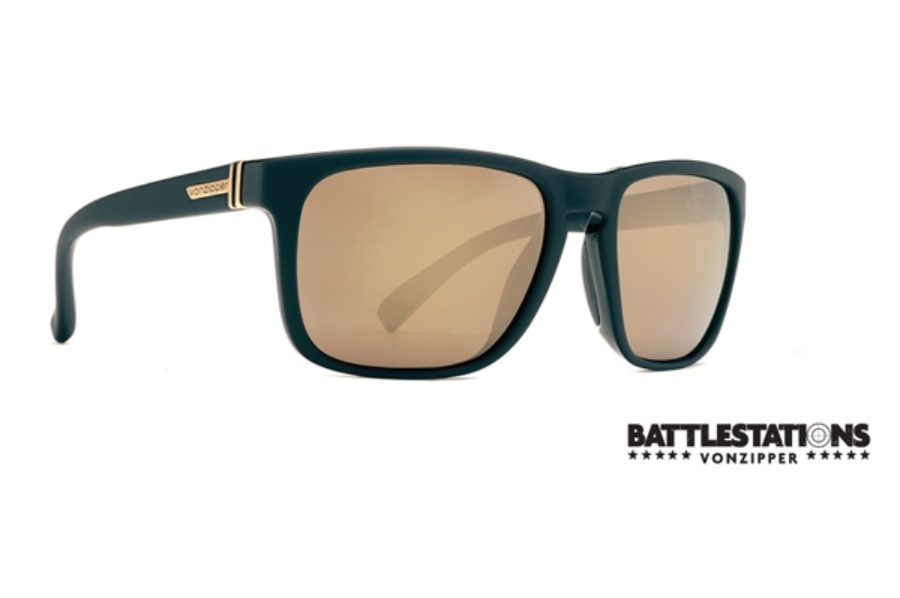 f96ecb6e885 ... Von Zipper Lomax Sunglasses in BKD Battlestations Black   Gold Chrome  ...