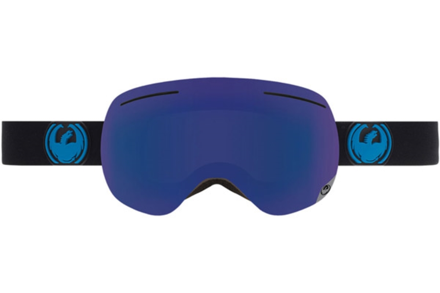 Dragon X1 Goggles in JET / DARK SMOKE BLUE + YELLOW RED ION