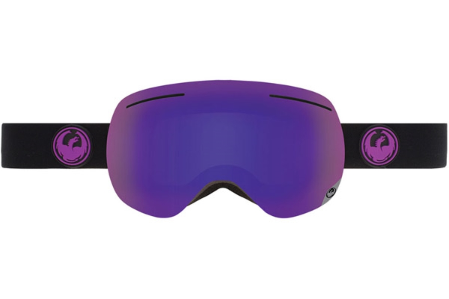 Dragon X1 Goggles in JET / PURPLE ION + YELLOW RED ION