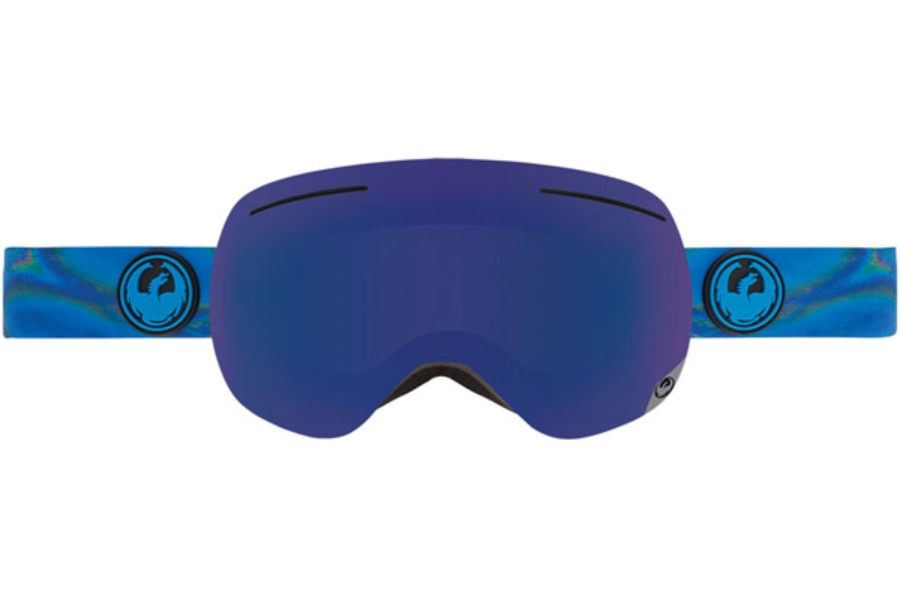 Dragon X1 Goggles in SPILL / DARK SMOKE BLUE + YELLOW RED ION