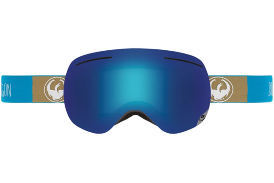 Dragon X1 Goggles in STACK / BLUE STEEL + YELLOW RED ION