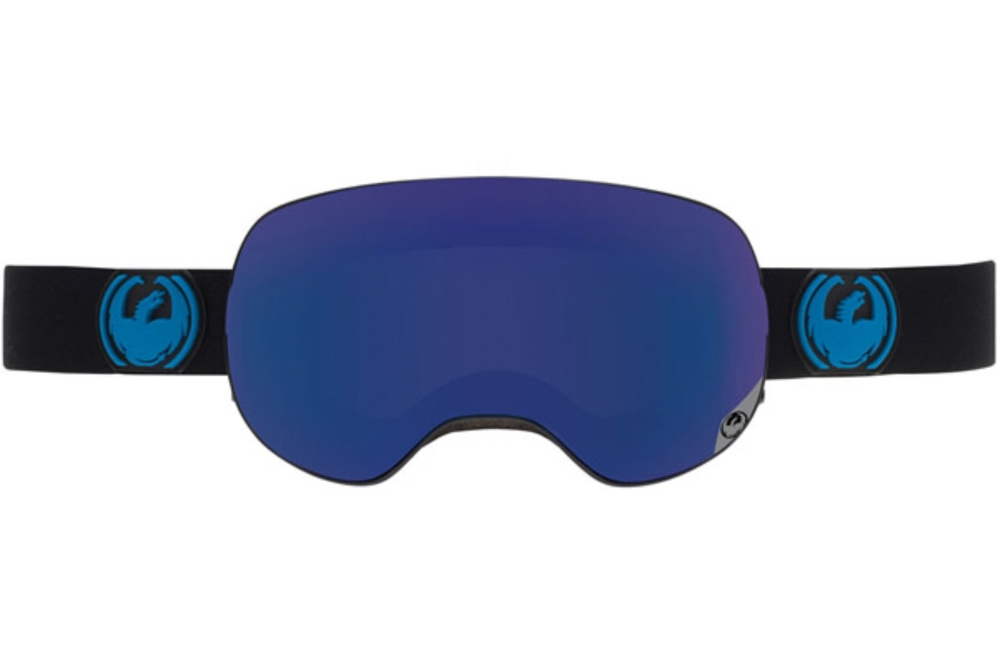 Dragon X2 Goggles in JET / DARK SMOKE BLUE + YELLOW RED ION