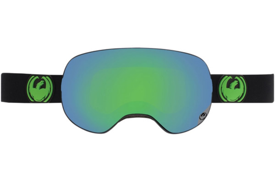Dragon X2 Goggles in JET GREEN ION + YELLOW BLUE ION