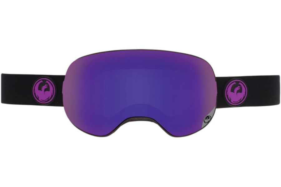 Dragon X2 Goggles in JET / PURPLE ION + YELLOW RED ION