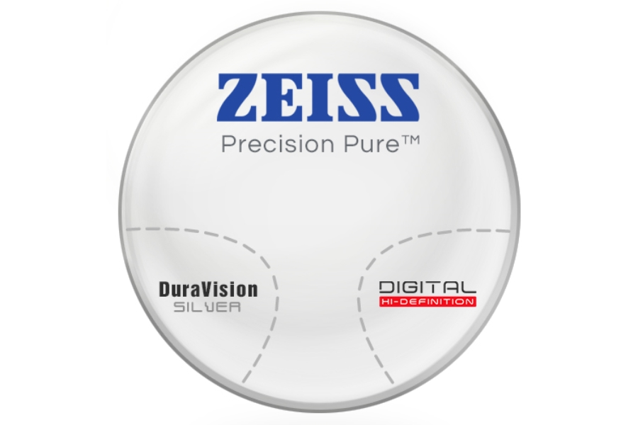 Zeiss Zeiss® Precision Pure™ Polycarbonate Progressive W/ Zeiss DuraVision Silver AR Lenses in Zeiss Zeiss® Precision Pure™ Polycarbonate Progressive W/ Zeiss DuraVision Silver AR Lenses
